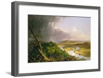 View from Mount Holyoke, Northampton, Massachusetts, after a Thunderstorm—The Oxbow, 1836-Thomas Cole-Framed Giclee Print