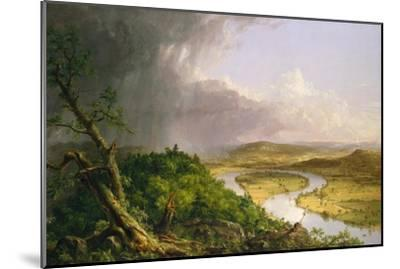 View from Mount Holyoke, Northampton, Massachusetts, after a Thunderstorm—The Oxbow, 1836-Thomas Cole-Mounted Giclee Print