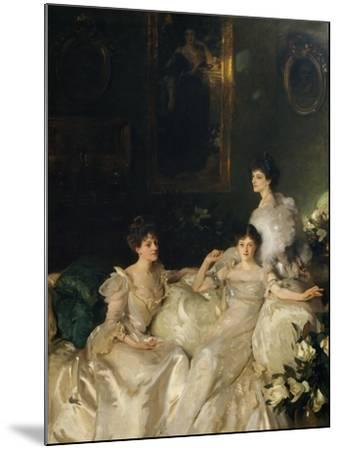 The Wyndham Sisters: Lady Elcho, Mrs. Adeane, and Mrs. Tennant, 1899-John Singer Sargent-Mounted Giclee Print