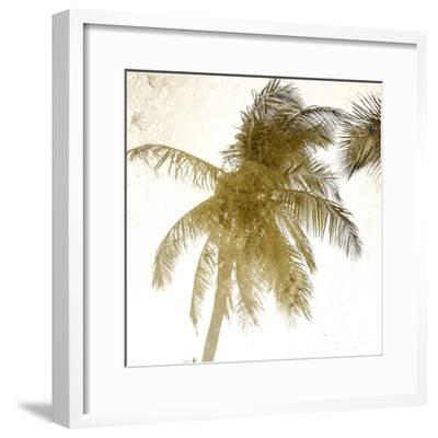 Bright Palm Gold 1-Kimberly Allen-Framed Art Print