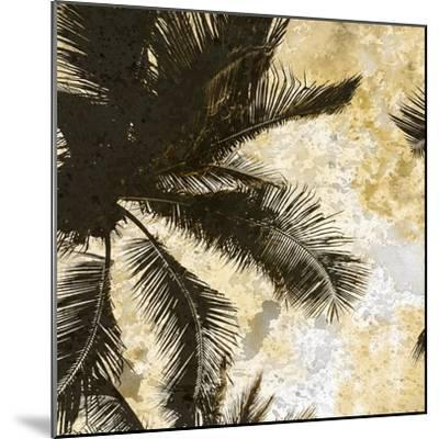 Palm Tree Gold 1-Kimberly Allen-Mounted Art Print