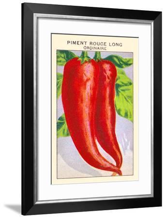 Piment Rouge Long Ordinaire--Framed Art Print