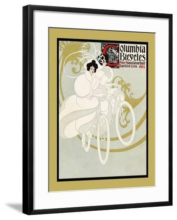 Columbia Bicycles. Pope Manufacturing Co Hartford, Conn. 1895-Will Bradley-Framed Art Print
