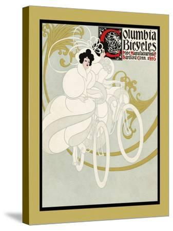 Columbia Bicycles. Pope Manufacturing Co Hartford, Conn. 1895-Will Bradley-Stretched Canvas Print