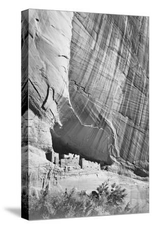 """View From River Valley """"Canyon De Chelly"""" National Monument Arizona. 1933-1942-Ansel Adams-Stretched Canvas Print"""
