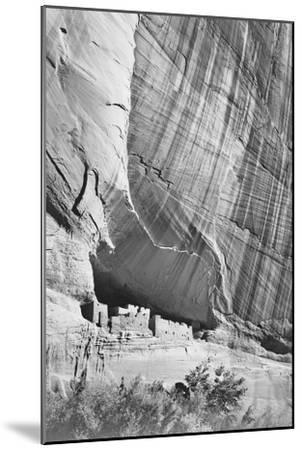 """View From River Valley """"Canyon De Chelly"""" National Monument Arizona. 1933-1942-Ansel Adams-Mounted Art Print"""