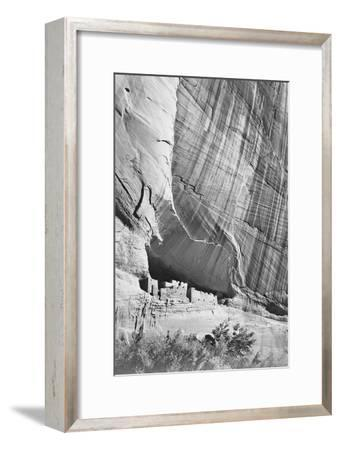 """View From River Valley """"Canyon De Chelly"""" National Monument Arizona. 1933-1942-Ansel Adams-Framed Art Print"""