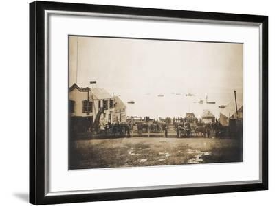 Docks At Nome Alaska With Ships--Framed Art Print