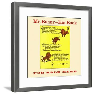 Mr. Bunny-His Book, For Sale Here-W.H. Fry-Framed Art Print