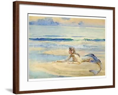 The Mermaid-John Reinhard Weguelin-Framed Art Print