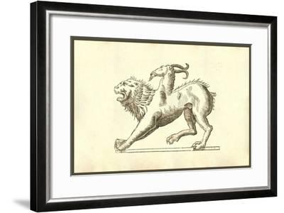 Chimera (Icon Monstrosae Cuiusdam Chimaerae)-Ulisse Aldrovandi-Framed Art Print