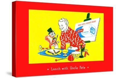 Lunch With Uncle Pete--Stretched Canvas Print