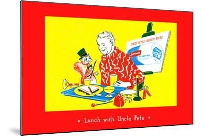 Lunch With Uncle Pete--Mounted Art Print