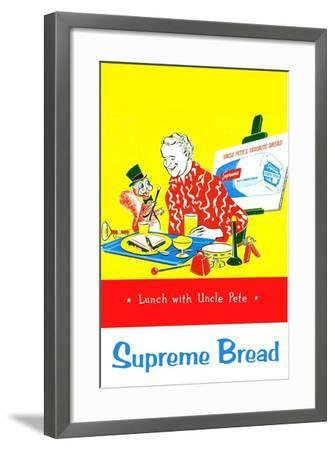 Supreme Bread: Lunch With Uncle Pete--Framed Art Print