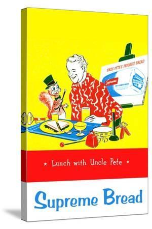 Supreme Bread: Lunch With Uncle Pete--Stretched Canvas Print