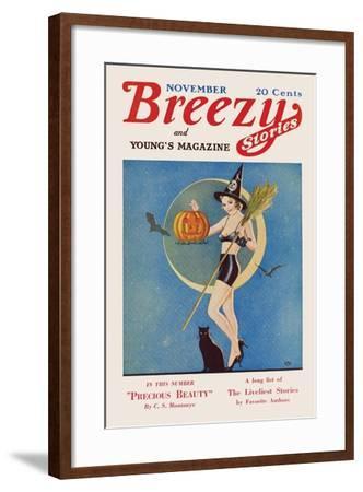 Pumpkin Witch- CAL-Framed Art Print