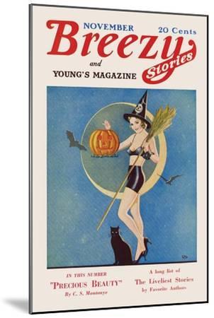 Pumpkin Witch- CAL-Mounted Art Print