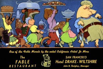 The Fable Restaurant-Jo Mora-Framed Art Print