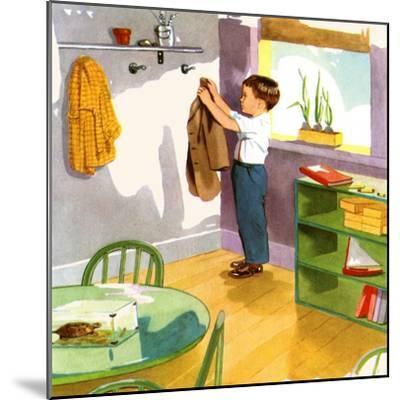 Hanging Up The Coat-Imogene M. McPherson?-Mounted Art Print