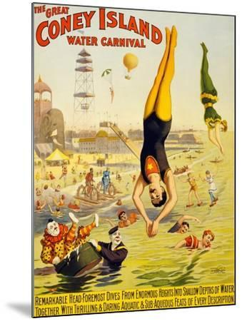 The Great Coney Island Water Carnival,--Mounted Art Print