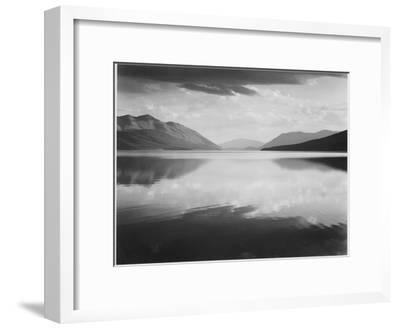 "Looking Across Lake Toward Mts ""Evening McDonald Lake Glacier National Park"" Montana 1933-1942-Ansel Adams-Framed Art Print"