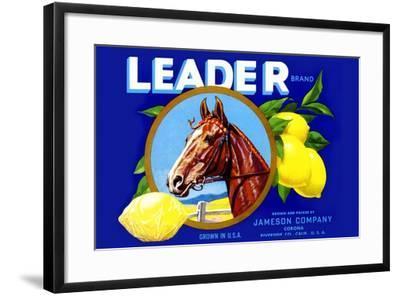 Leader Brand Lemons--Framed Art Print