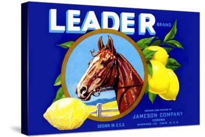 Leader Brand Lemons--Stretched Canvas Print