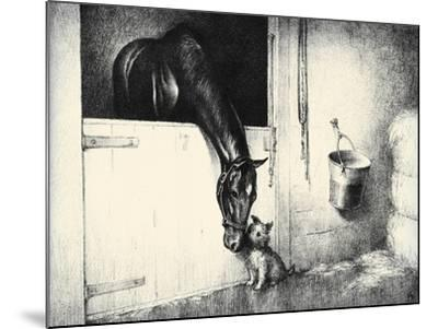 Thoroughbreds; And Their Mascots-C.W. Anderson-Mounted Art Print