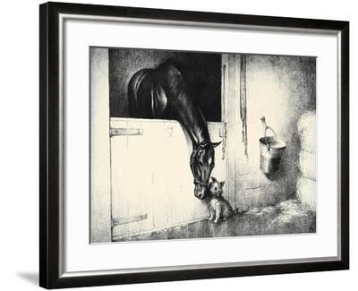 Thoroughbreds; And Their Mascots-C.W. Anderson-Framed Art Print