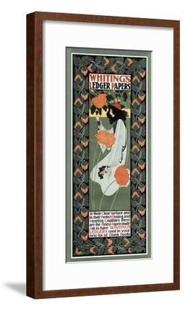 Whitings Ledger Papers-Will Bradley-Framed Art Print