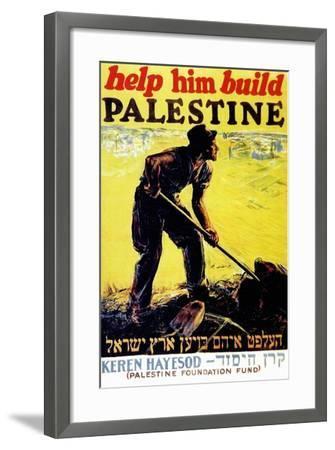 United Israel Appeal-Help Him Build Palestine-United Jewish United Jewish Appeal-Framed Art Print