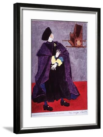 Fifteenth Century Costume Of The Superintendent Of Siena Hospital, Italy-Warja Honegger-Lavater-Framed Art Print