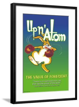Up N' Atom-The Value Of Foresight-Wilbur Pierce-Framed Art Print