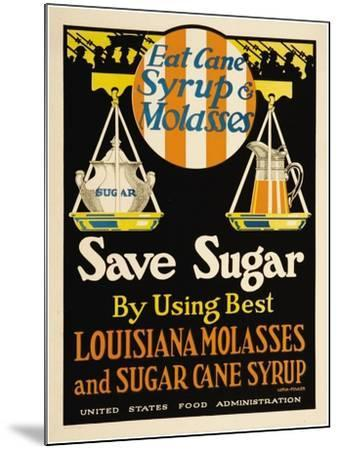 East Cane Syrup & Molasses- Luria-Fowler-Mounted Art Print