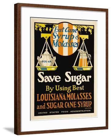 East Cane Syrup & Molasses- Luria-Fowler-Framed Art Print