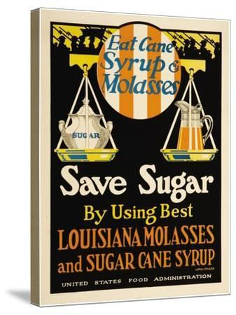 East Cane Syrup & Molasses- Luria-Fowler-Stretched Canvas Print