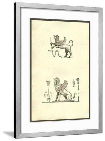 Gryphis (Griffin)-Ulisse Aldrovandi-Framed Art Print