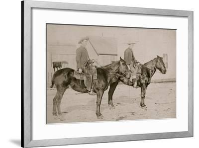 Montana Hats, Chaps & Guns--Framed Art Print
