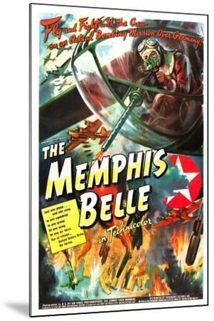 The Memphis Belle- US Air Force-Mounted Art Print