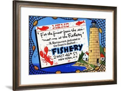 The Fishery-Curt Teich & Company-Framed Art Print