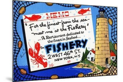 The Fishery-Curt Teich & Company-Mounted Art Print