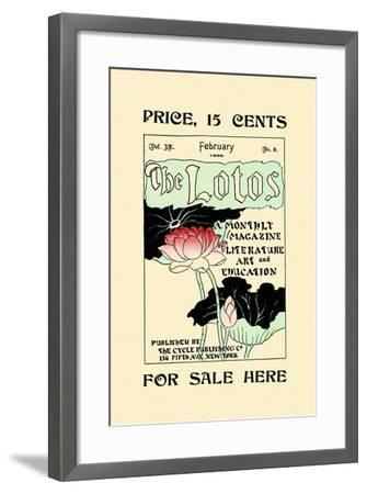 The Lotos, For Sale Here--Framed Art Print