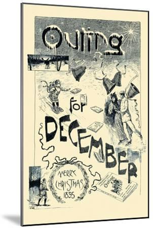 Outing For December. Merry Christmas 1895--Mounted Art Print