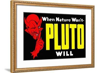 When Nature Won't Pluto Will-Curt Teich & Company-Framed Art Print
