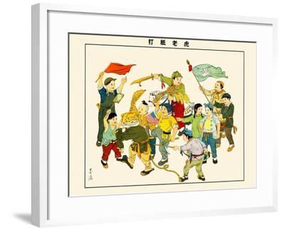 Hunting The American Paper-Tiger-Mai Long-Framed Art Print