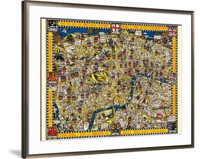 London Town Map.The Wonderground Map Of London Town Art Print By Macdonald Gill Art Com