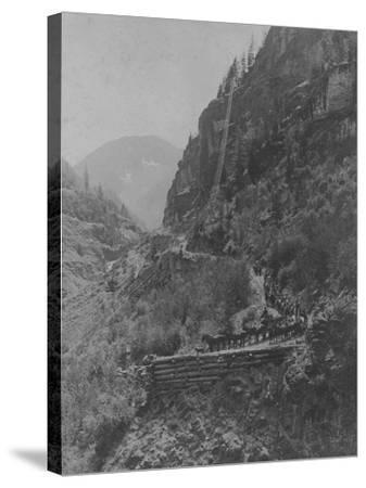 Silverton, Colorado Mining Photograph 1890s-1900s--Stretched Canvas Print