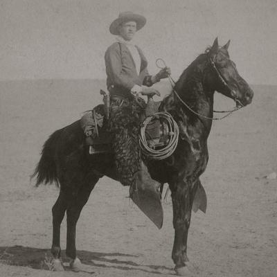 """Cowboy Jim """"Kid"""" Willoughby Champion Rider And Roper From Cheyenne, Wyoming-C.D. Kirkland-Framed Art Print"""