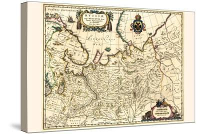 Russia Moscow Northern And Eastern Parts-Willem Janszoon Blaeu-Stretched Canvas Print