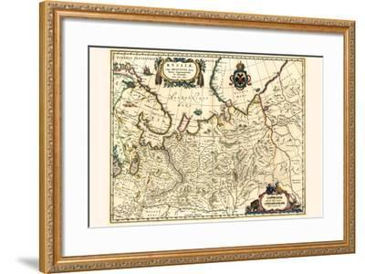 Russia Moscow Northern And Eastern Parts-Willem Janszoon Blaeu-Framed Art Print